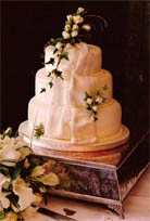 Three Tiered Wedding Cake in Cornwall by Magic Moments